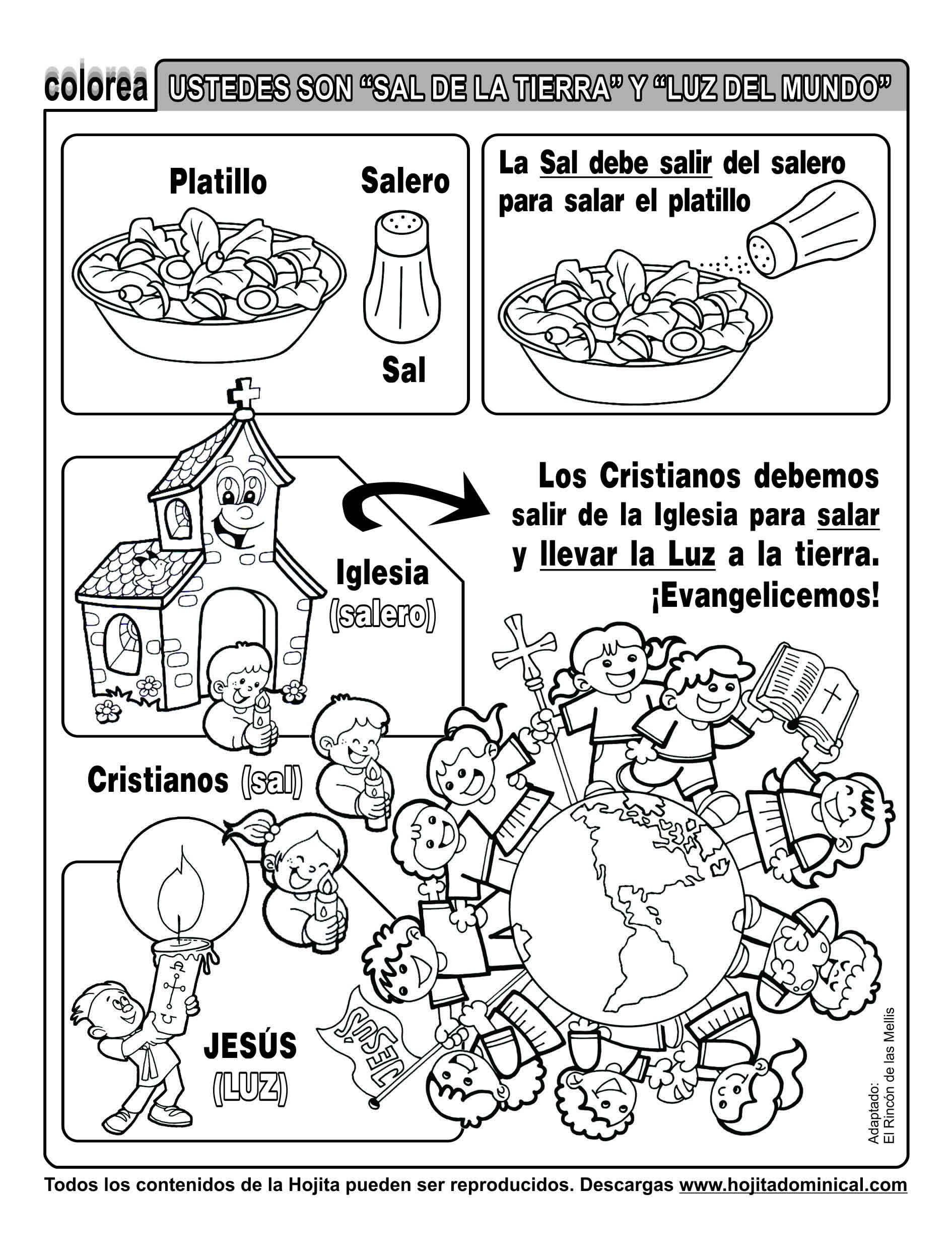 Moderno La Luz Del Evangelio Para Colorear Friso - Dibujos Para ...